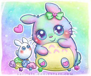 Cotton Candy Totoro by Sarilain
