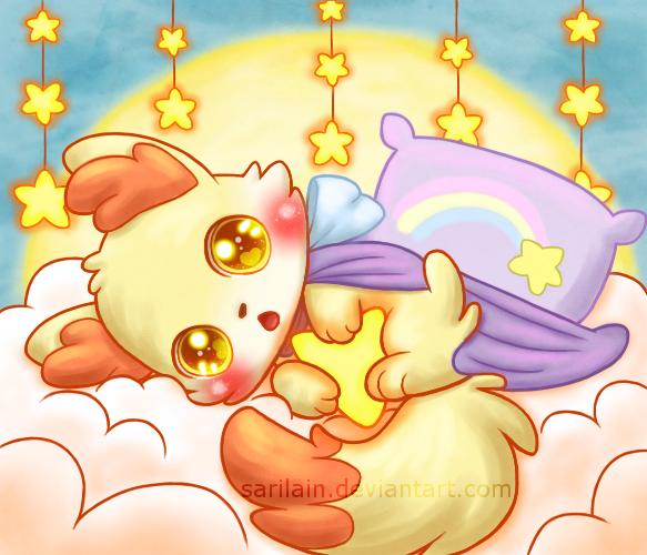 Sleepy Fennekin by Sarilain