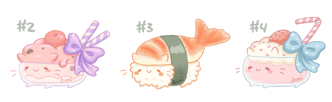 [CLOSED] Cakies #2 - #4 (Art Challenge) by Sarilain