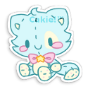 Sticky: Cakie Plushie by Sarilain