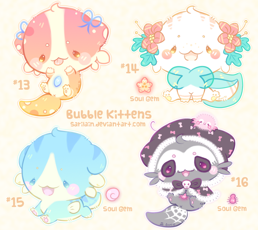[CLOSED] Bubble Kittens #13 - 16 by Sarilain
