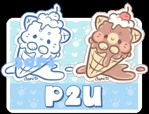 P2U Kitty Ice Cream Sticker Base