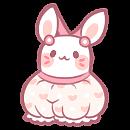Wearable: Pink Bunny Shortalls