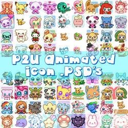 HUGE Pack! - 50+ P2U Animated Icon Bases