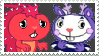 Mime x Flaky Stamp by mischievousFlaky-plz