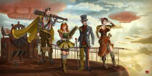 Steampunk CATMOOD Crew by 3NioNio3