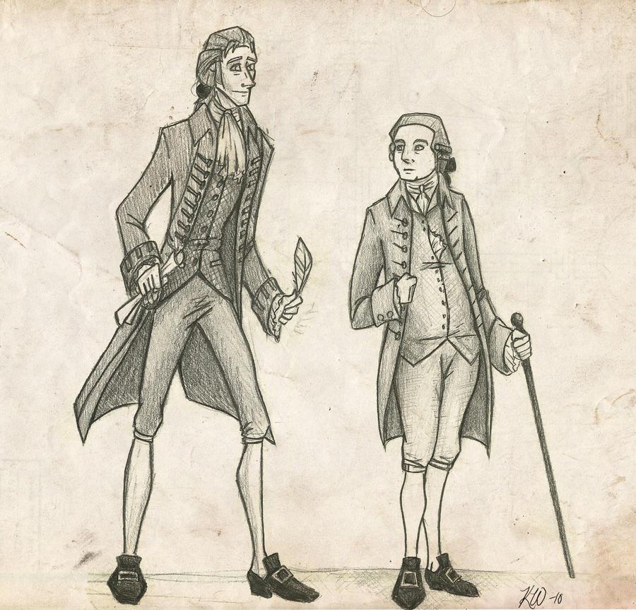 John and Tom Cartoons by Techta