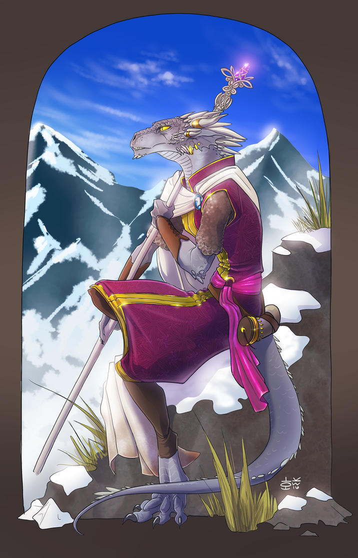 Commission - DnD Character Silverspear by Techta