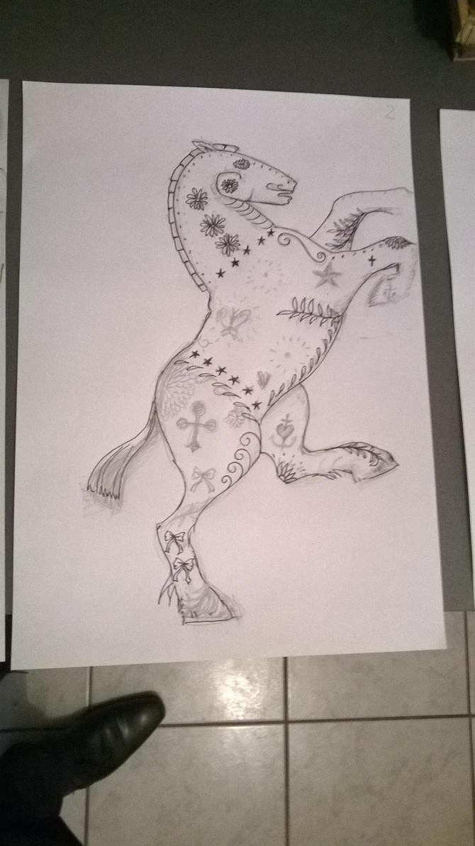 Calavera Breton horse 2 by bordeauxman