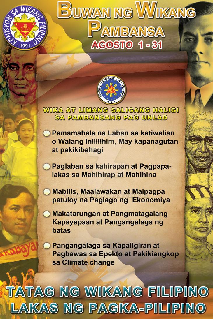 """tema ng buwan ng wika Kung kaya't sa mga darating na panahon, huwag nating kalimutan ang tema ng buwan ng wika ngayong taong 2014, """"filipino, wika ng pagkakaisa"""" dahil mula sa."""