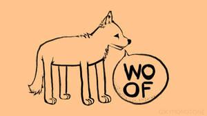 Funny Dog woof