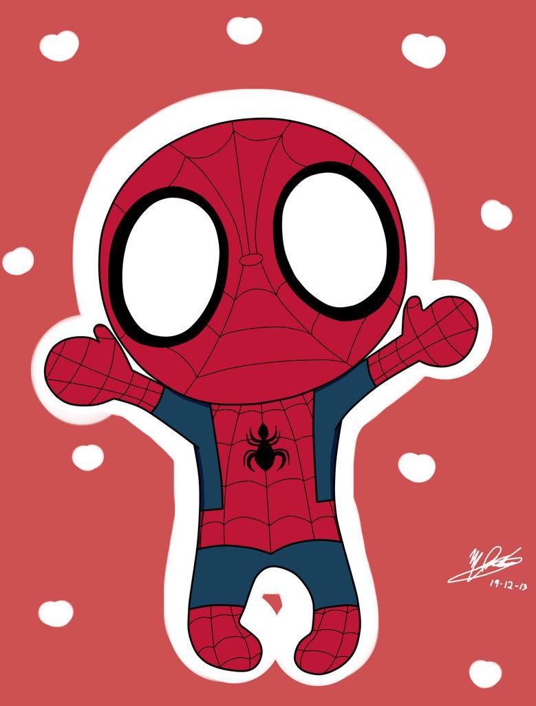 Cute Spiderman Chibi Spiderman Chibi by Merryrain15