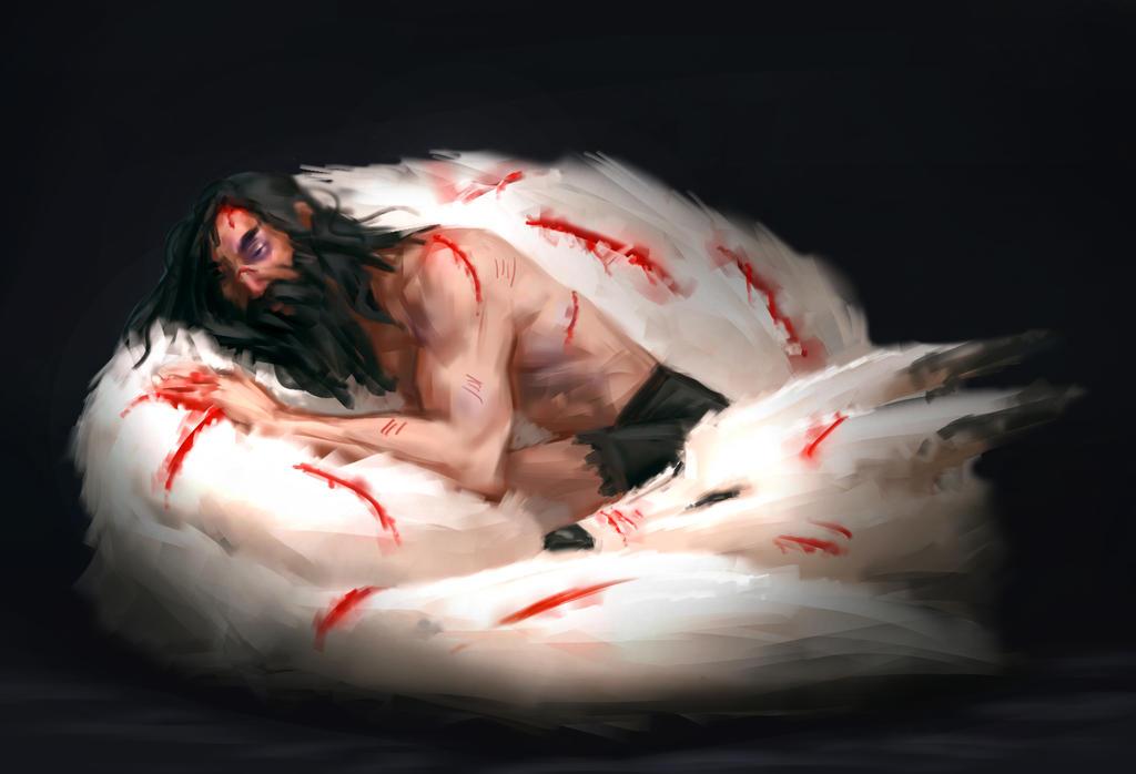 Samurai Jack and the white wolf by stinkypanda
