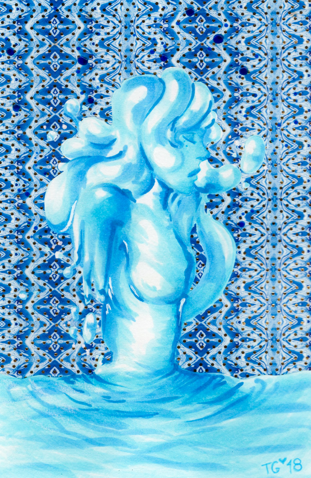 Inktober #2: Tranquil by stylecheetah