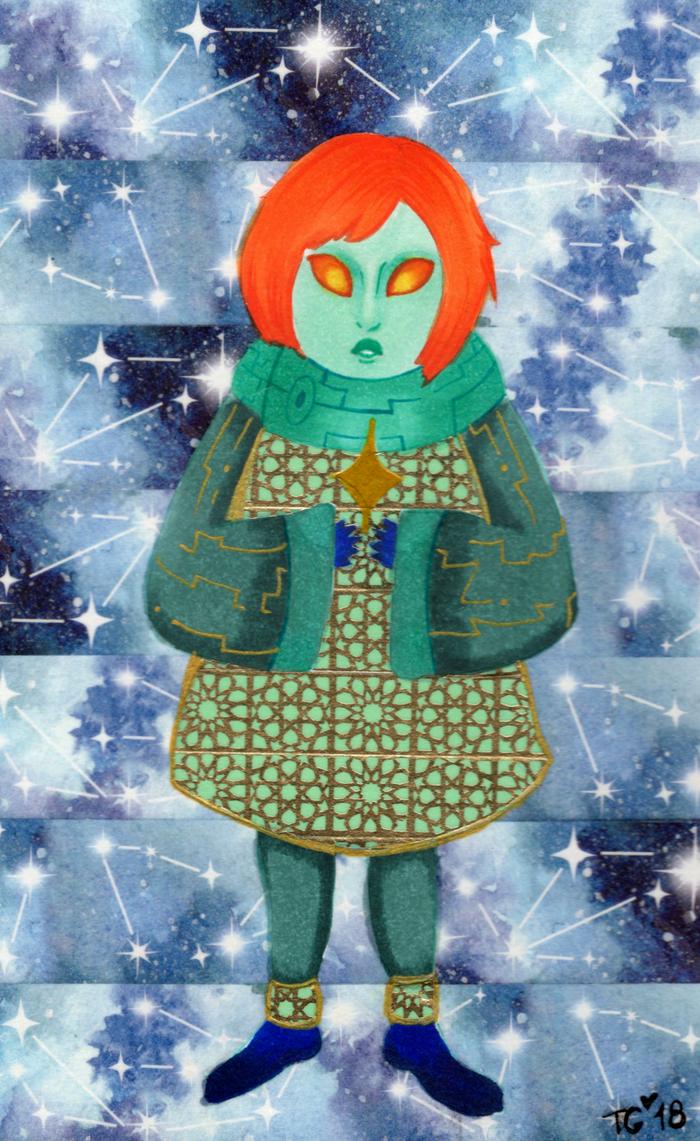 Inktober #8: Star by stylecheetah