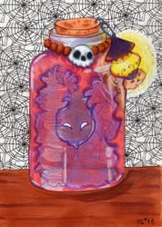 Inktober #18  Bottle by stylecheetah