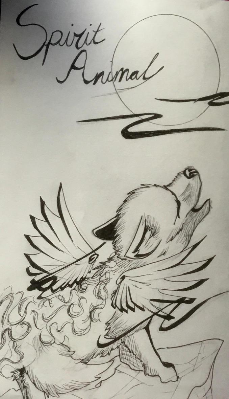 spirit wolf by dudidraak