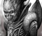 Alien of Mars detail by placeboy