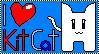 I love Kit Cat stamp by PrincesseKitCat