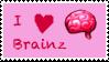 I love brainz - stamp by PrincesseKitCat