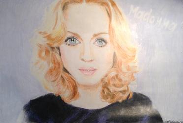 Madonna (+ Speed-Drawing) by TheGreatKitCat