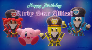 Happy Birthday Kirby Star Allies!