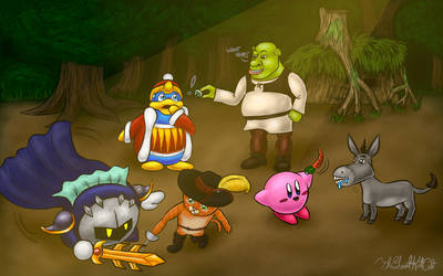 [Contest Entry] Kirby and Shrek: Swamp Encounter