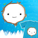 Adventure Time T-shirt design - Snow Golem