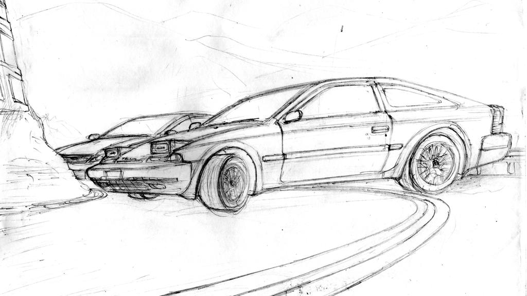 Drift Car Colouring Pages Drawings Sketch Coloring Page