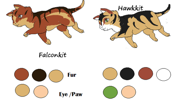 Adopt: Falconkit and Hawkkit by Shizuri-chan