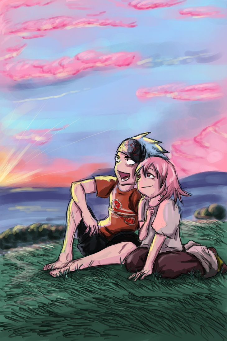 Evening on a lonely island by Shizuri-chan