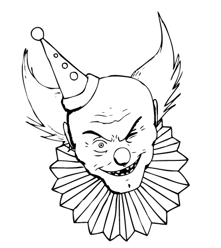 Project Halloween: Clown Bust by AwesomeAria