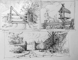 Pen and ink fences by Lineke-Lijn