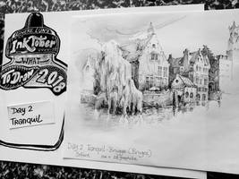 Day 2 Inktober: Tranquil - Bruges by Lineke-Lijn