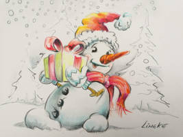 Snowman drawing Free download by Lineke-Lijn