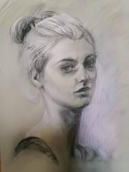 Portrait trois quarts by Lineke-Lijn