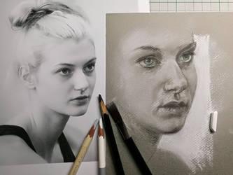 Lady portrait study by Lineke-Lijn
