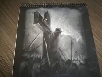 Jesus dying on cross by Lineke-Lijn