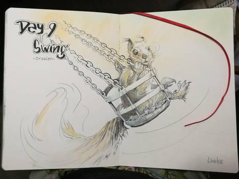 #inktober2019  Day 9: Swing