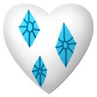 Rarity Cutie Mark Heart by YuiRainbowStar