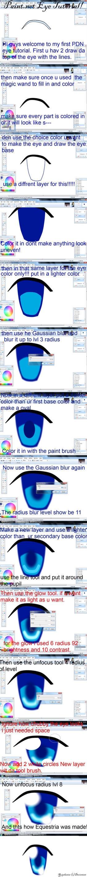 Paint.net Eye Tutorial by YuiRainbowStar