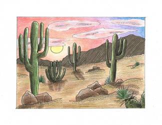 AZ Desert Landscape by silverwolf71190