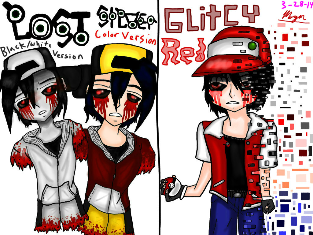 Lost Silver And Glitchy Red By Xxxdragoncharmxxx On Deviantart