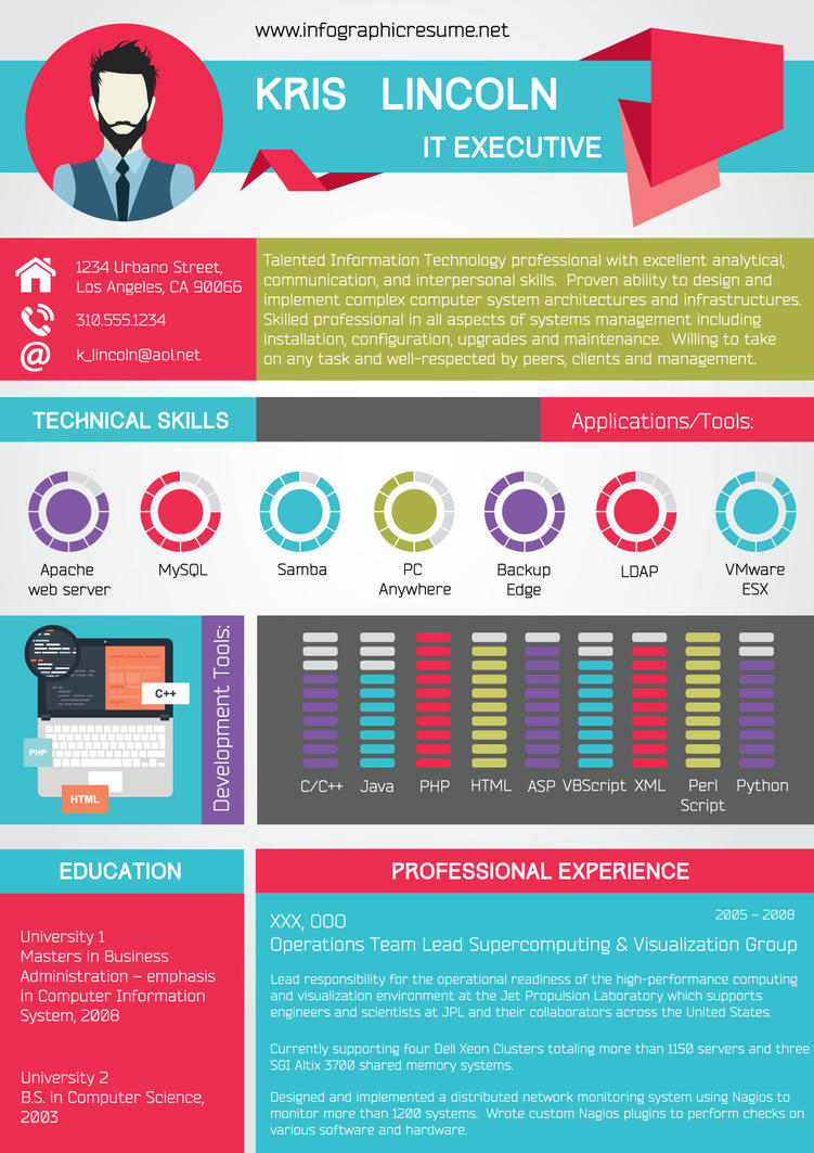 Kris Infographic Resume Example By Richardnivey On Deviantart