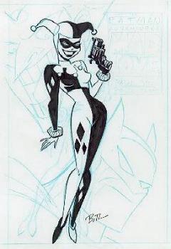 Harley Quinn BW by harleyquinn-club