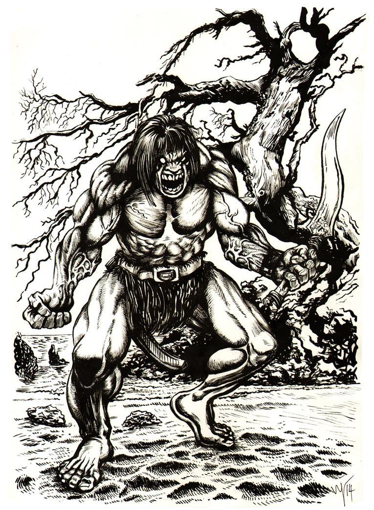 Warrior on the Beach by ugurbs