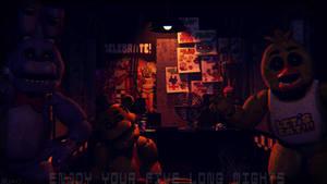 Long nights (fnaf sfm) by JR2417