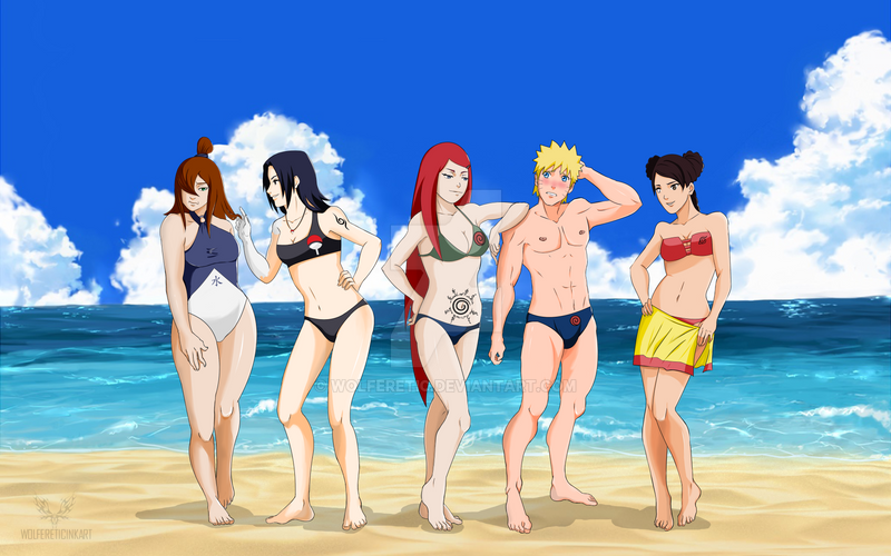 c1859e8cea Commission: Naruto on the Beach by wolferetic on DeviantArt
