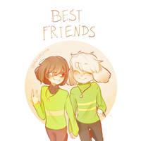 Best Friends (+speedpaint) by MakaUT