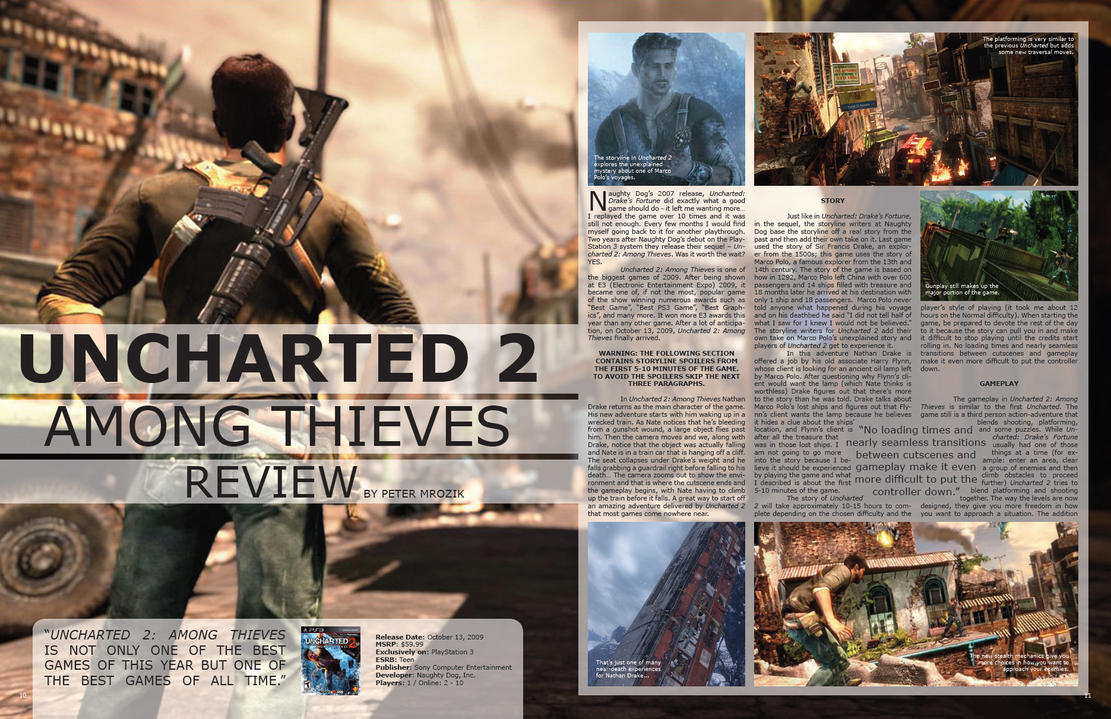 Uncharted 2 review layout 1-3 by PM7X on DeviantArt